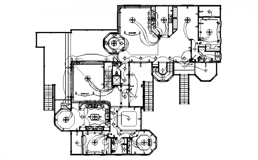 Home electrical connection and riser diagram cad drawing
