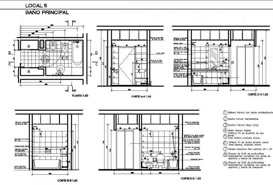 Toilet, canteen and guard room of park layout plan cad