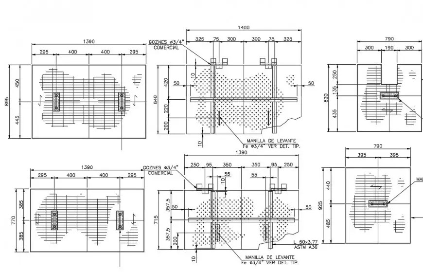 2 d cad drawing of Insert and piping details auto cad