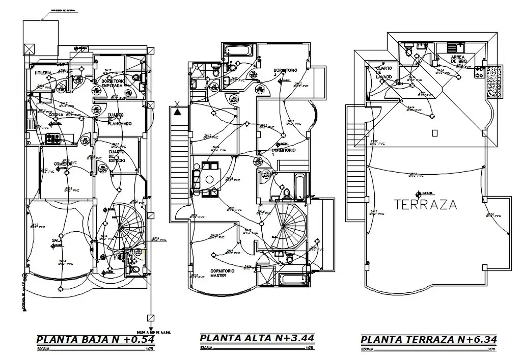 200 Square Meter 4 BHK House Electrical And Wiring plan