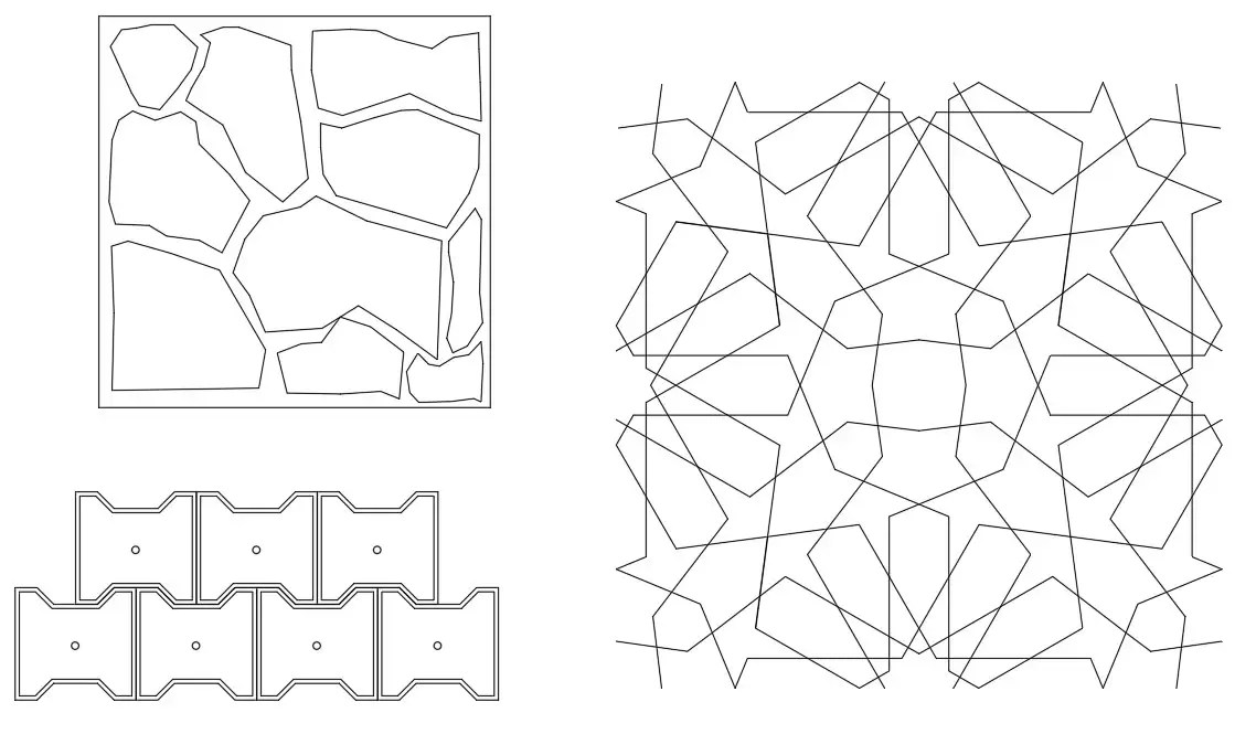 2D Autocad drawings contain the paver block design