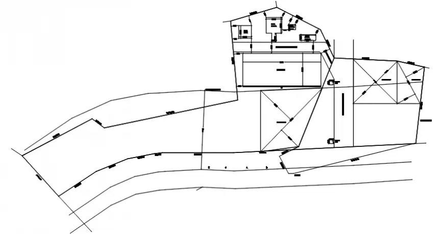 2 d cad drawing of zak block plot rough Auto Cad software