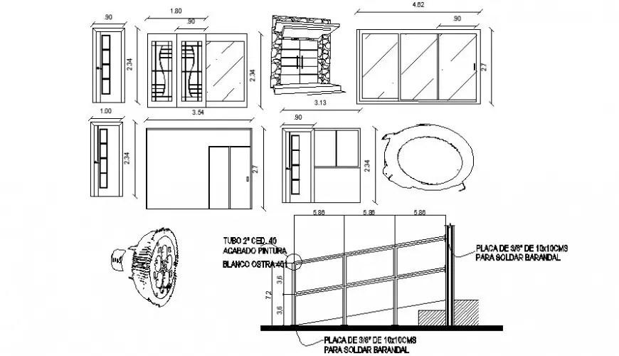 2d blocks details of door units CAD drawings dwg autocad