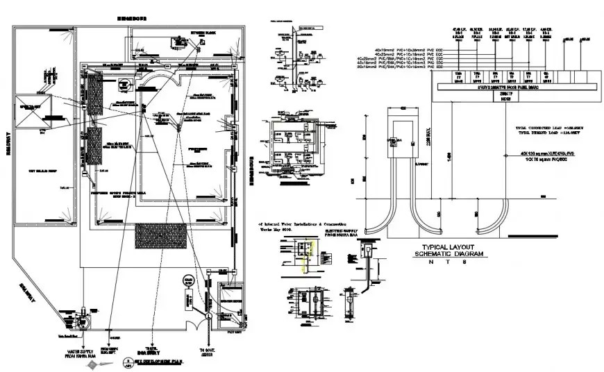 2d cad drawing of electrical office plan autocad software
