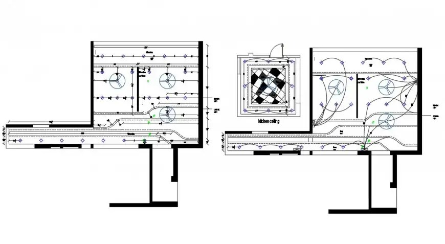 2d cad drawing of final design electrical layout autocad