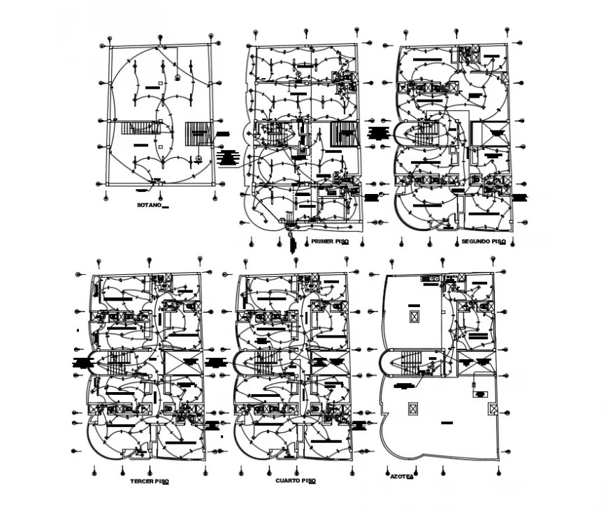 2d cad drawing of installation electrical autocad software