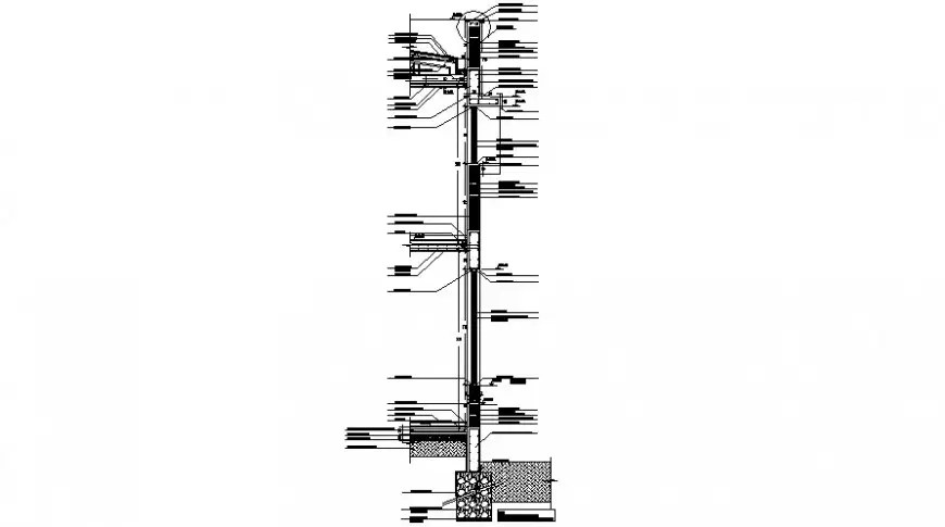 2d cad drawing of long street light auto cad software