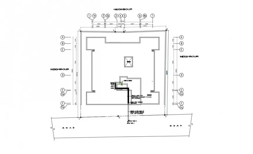 2d CAD drawings details of electrical layout plan room dwg