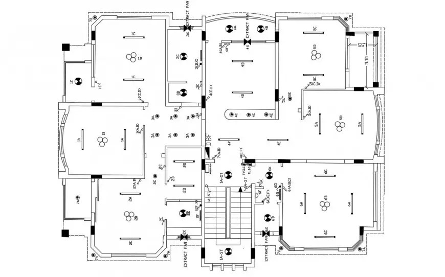 2d cad layout plan of drawing of electrical layout in dwg