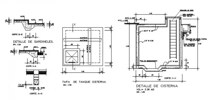 2d CAD RCC structural units drawings details in autocad