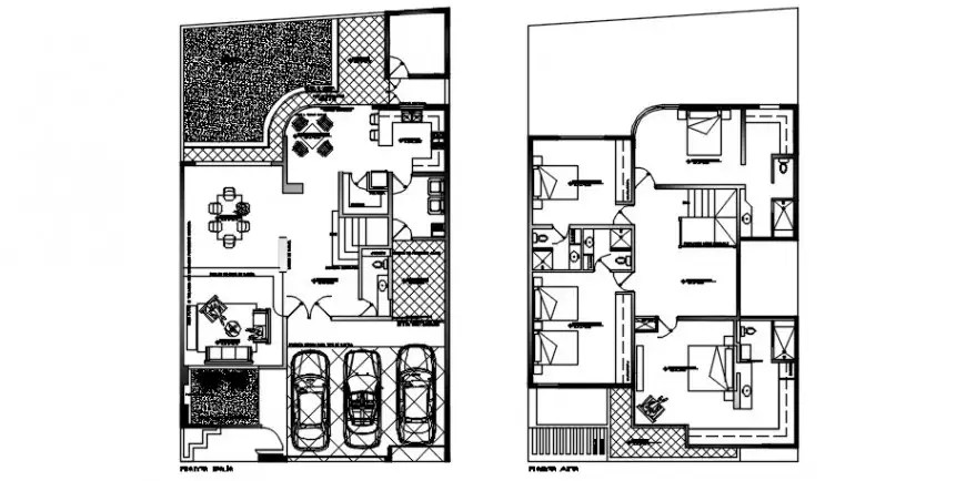 2d Center line plan of house CAD drawings details in