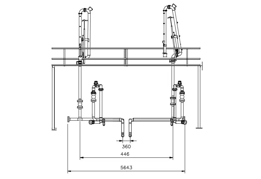 AHU System Piping Design AutoCAD Drawing Free Download
