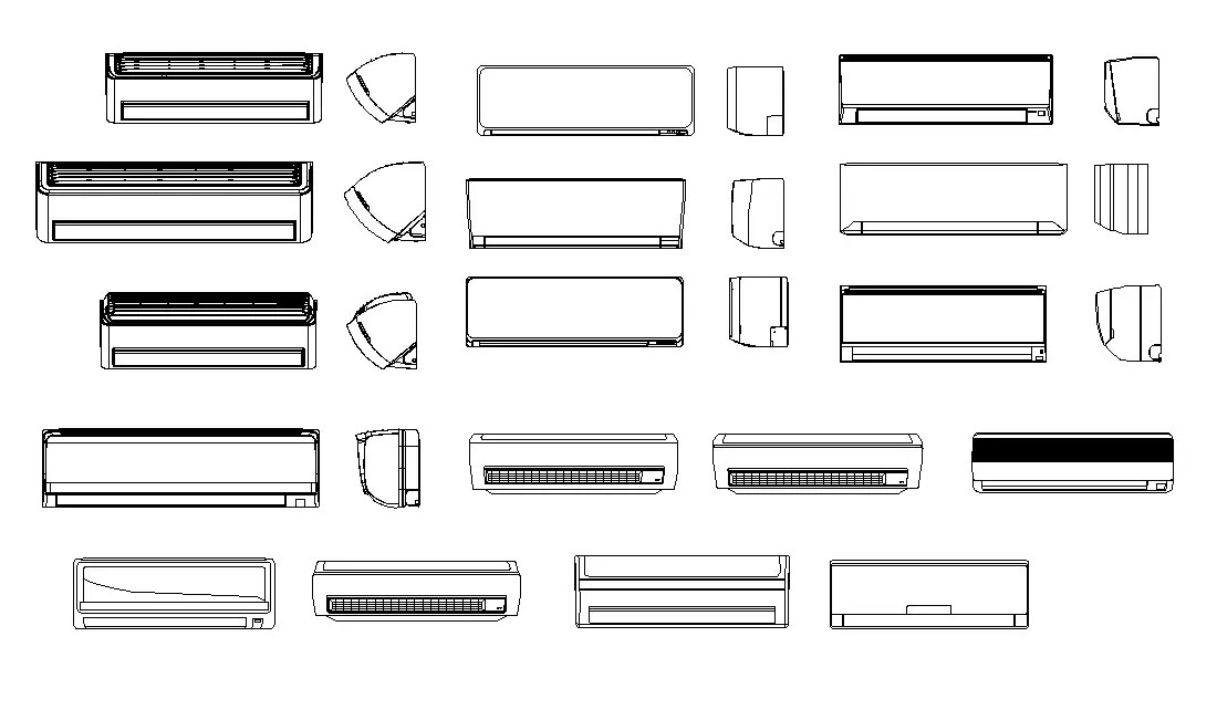 Air conditioning CAD Block Drawing Free Download DWG File