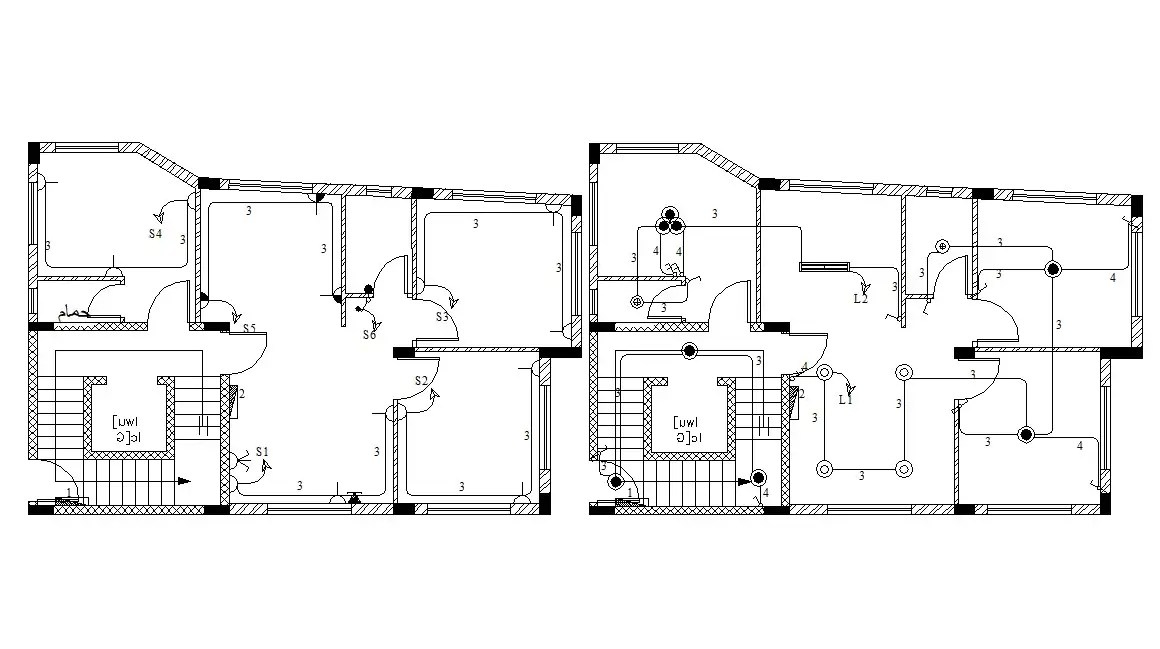 Apartment Building Structure Column Layout DWG CAD file