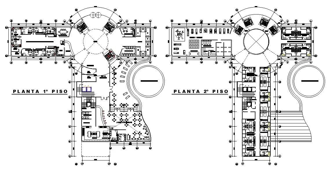 Architecture Hotel Floor Plan AutoCAD Drawing DWG File