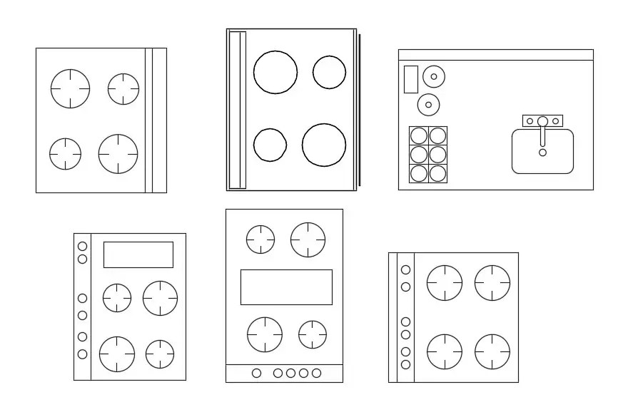 AutoCAD 2D drawing file of the different types of electric