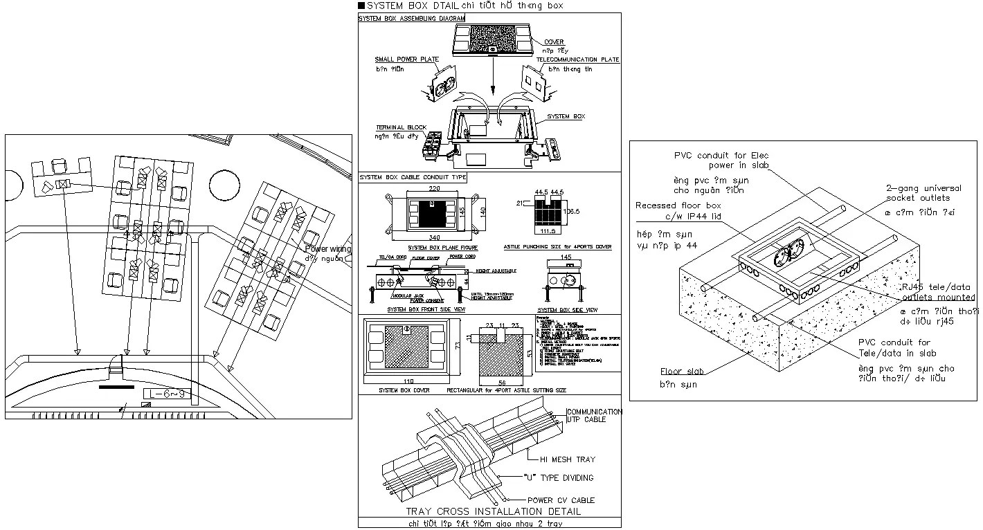 AutoCAD Drawing file showing the details of Electrical