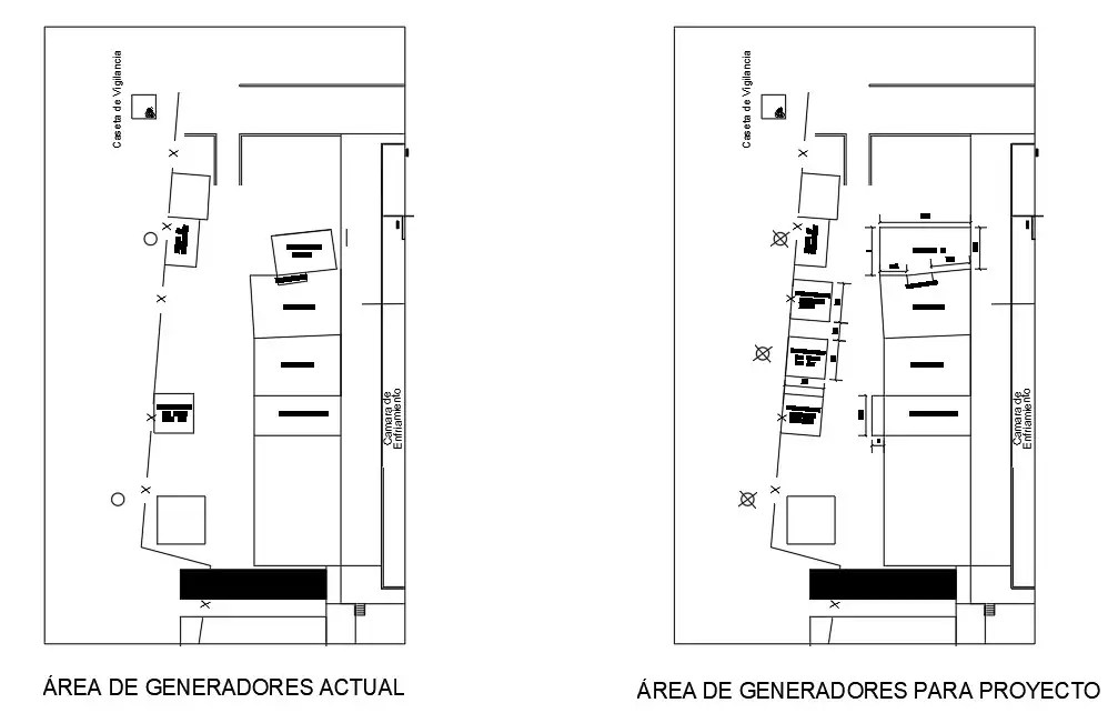 Autocad 2D DWG drawing is shows the Project for Generator