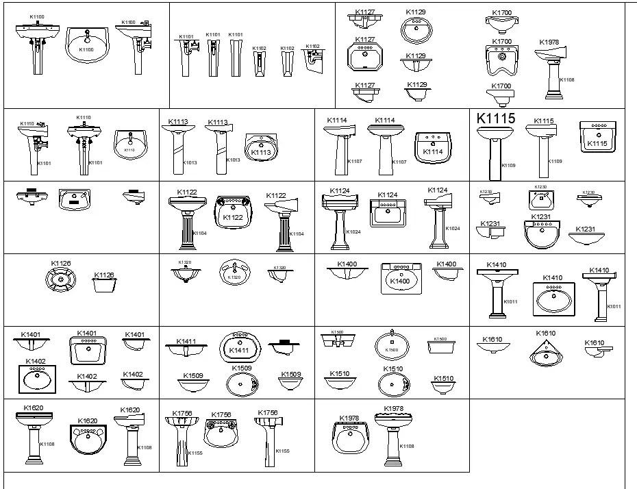 Bathroom Equipment Plan Detail Dwg File Cadbull