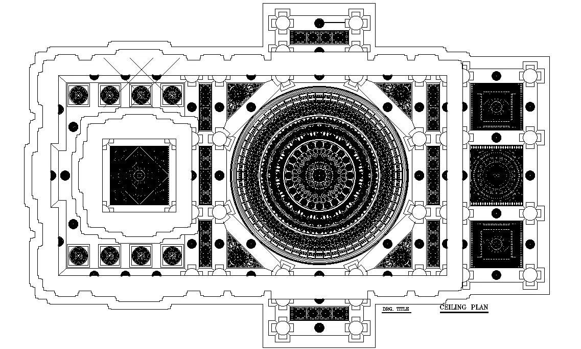 Ceiling plan detail drawing provided in this AutoCAD file