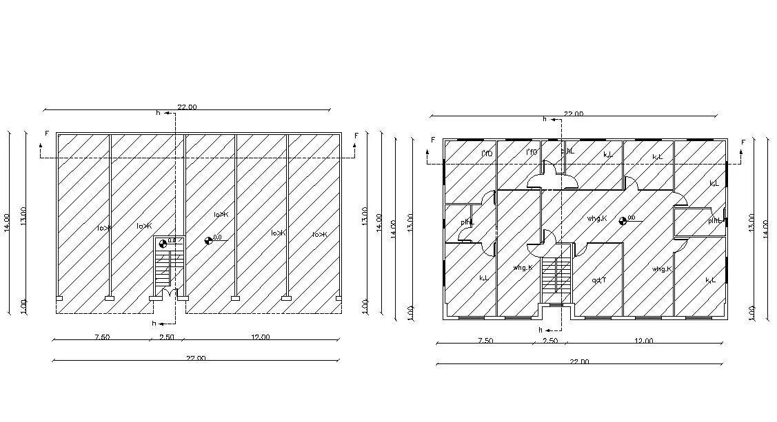 Commercial And Residential Building Planning Cad Drawing