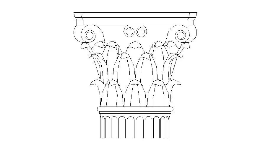 Creative column 3d elevation block cad drawing details dwg