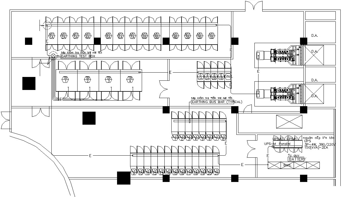 DWG drawing file shows the details of the electrical room