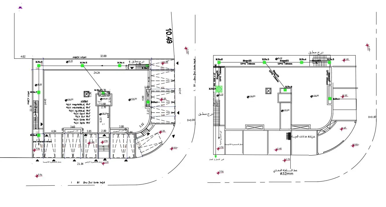 Download Building Plan With Parking Layout Drawing DWG