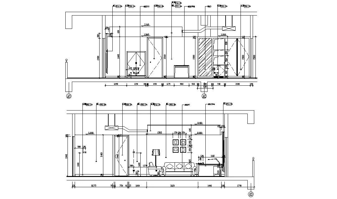 Download The Simple Living Room Interior Designs AutoCAD