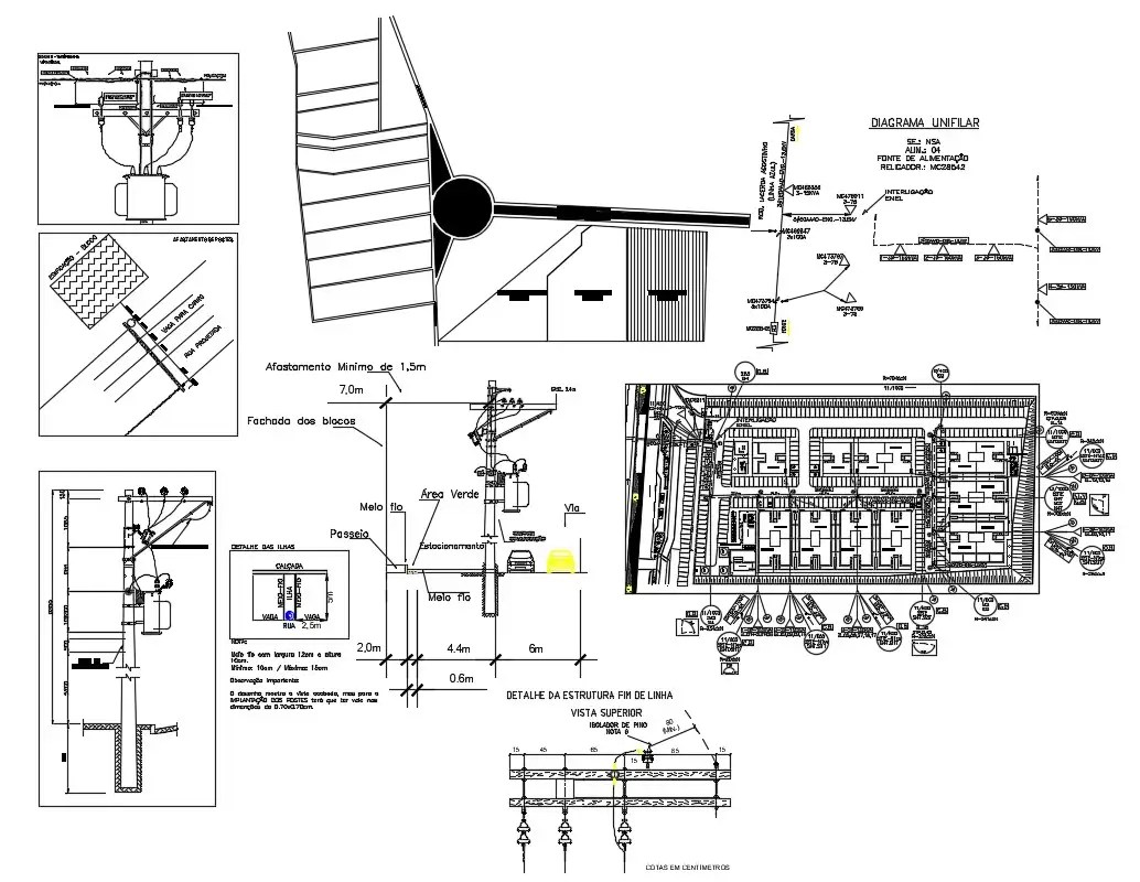 Electrical Lighting Street Lamp Design AutoCAD Drawing