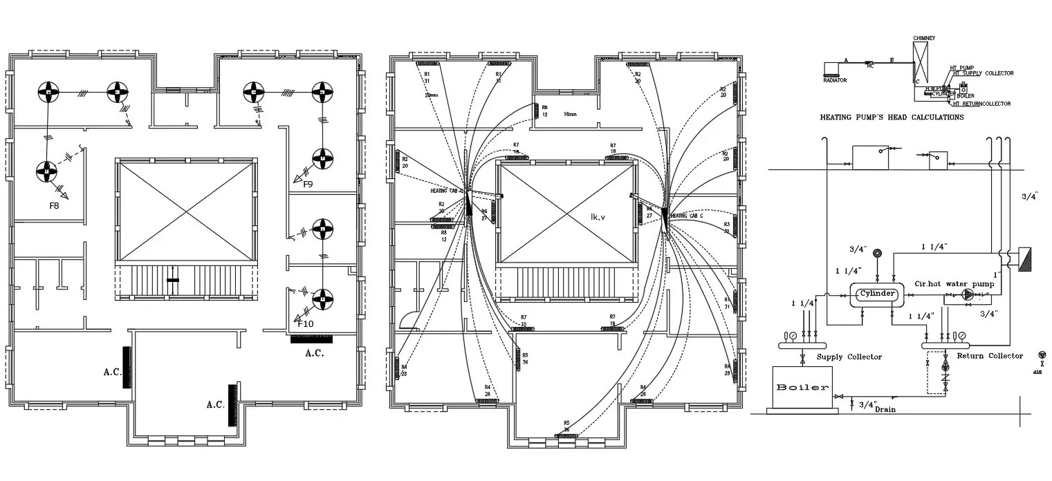 Electrical Wiring Plan Of Hostel Building Design AutoCAD