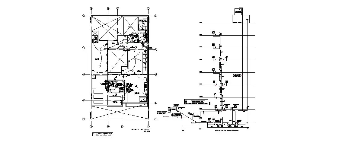 Electrical installation and diagram details for apartment