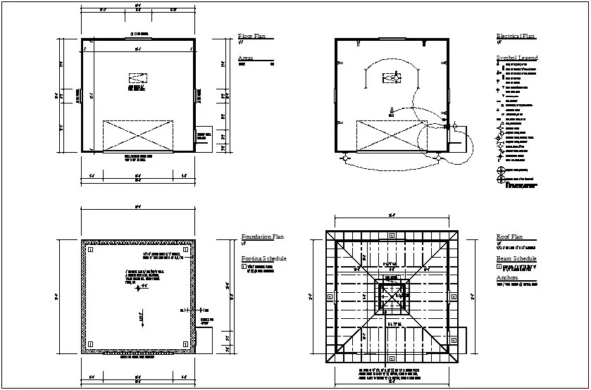 Electrical view of floor plan view with electrical legend