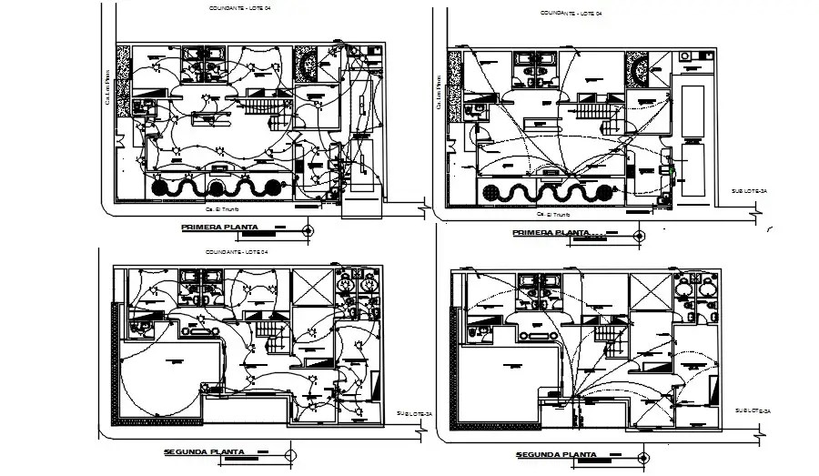 Electrical layout wiring plan provided in this CAD drawing