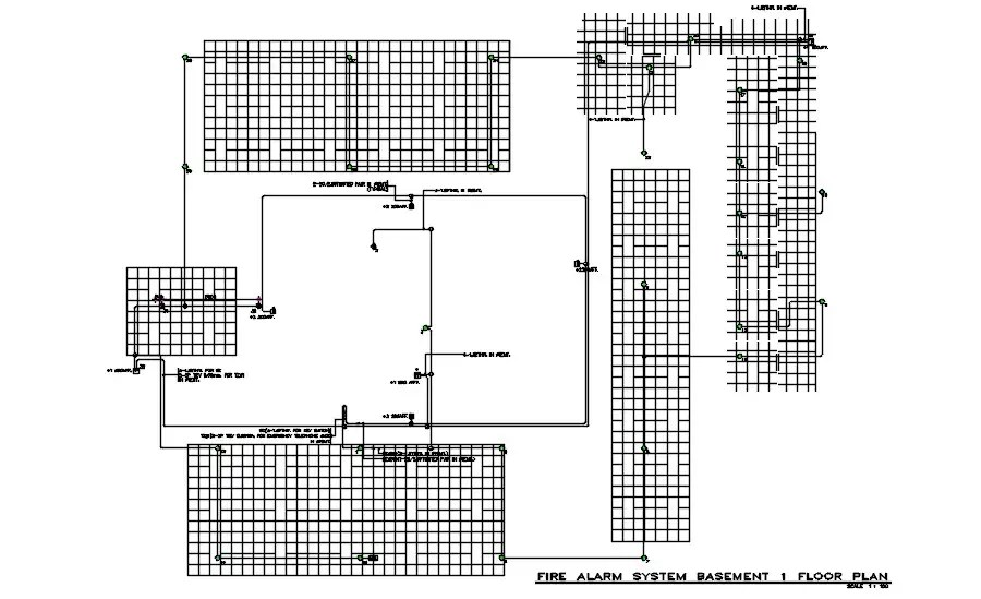 Fire Alarm system First-floor diagrams are provided in