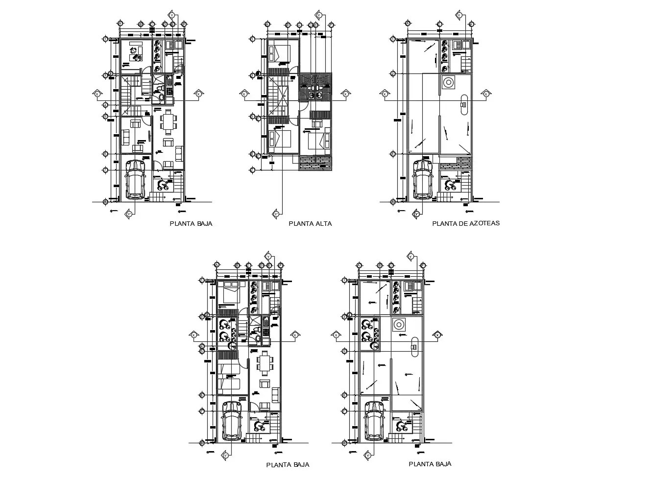 Floor plan of residential house with furniture details in