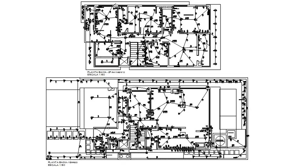 G+1 House Electrical drawing AutoCAD Drawing is given
