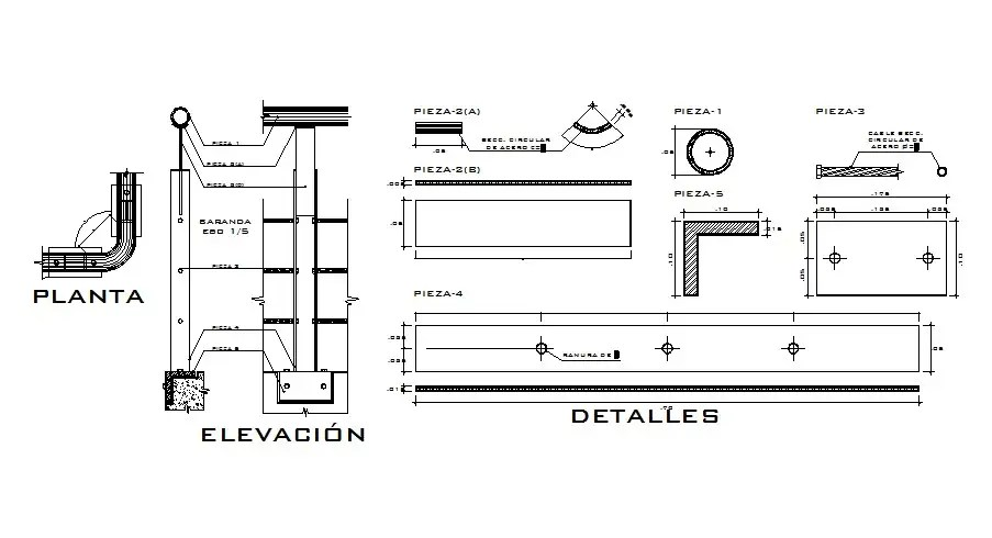 Handheld elevation and electrical installation details dwg