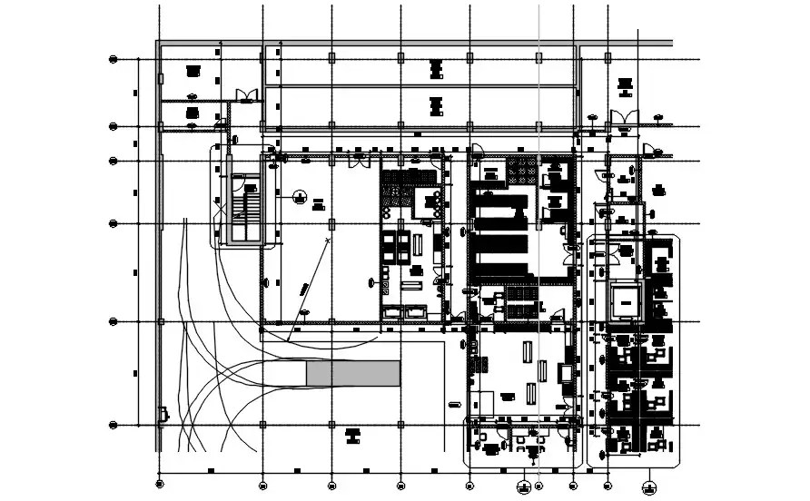 Hotel basement floor plan and electrical drawing design is