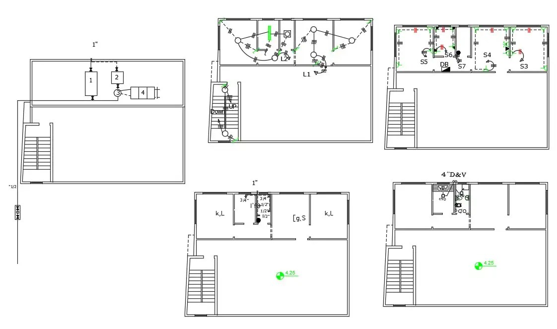 House Electrical And Plumbing Layout Plan Free DWG File