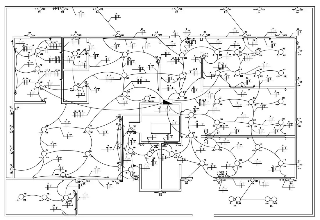 House Electrical Wiring Plan AutoCAD drawing download