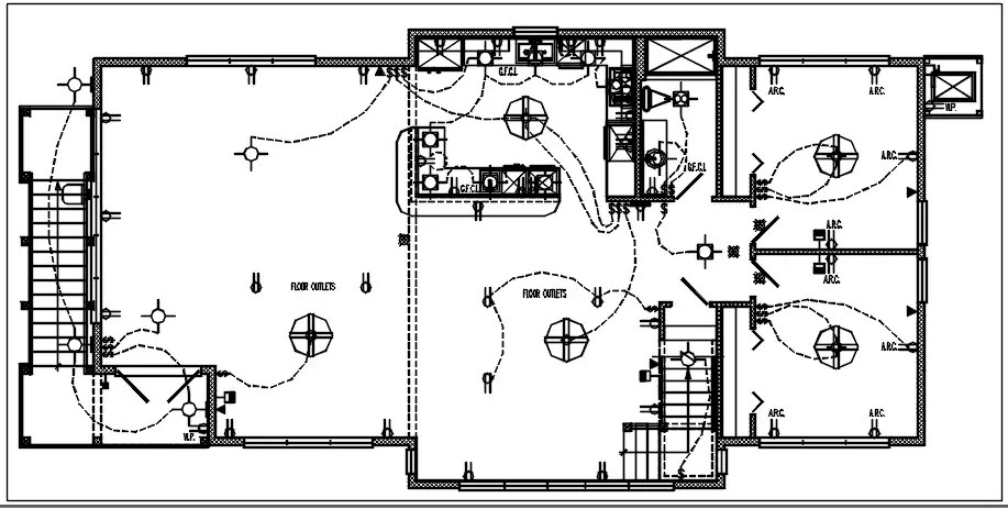 House electric plan layout and design plan layout view