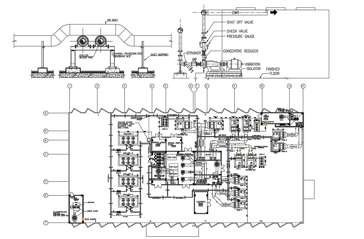 Industrial Plant Layout Design AutoCAD Drawing Download