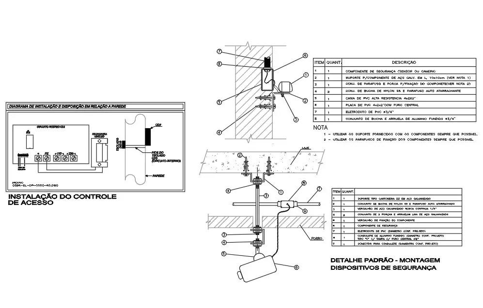 Installation Internal Circuit Drawing Free Download DWG