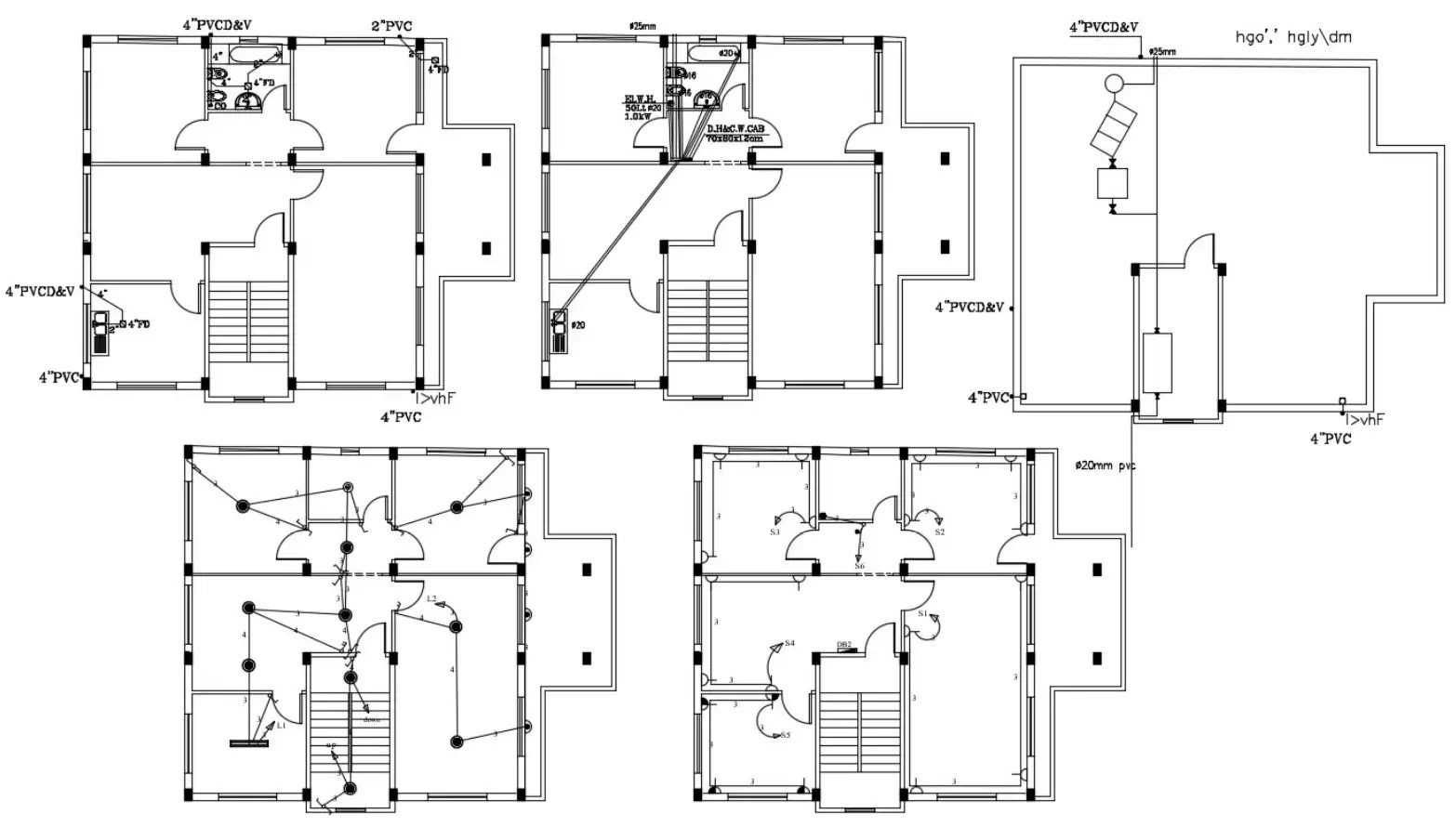 House Floor Layout Plan With Electrical And Plumbing