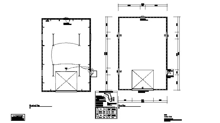 Second floor electrical layout and line out plan for