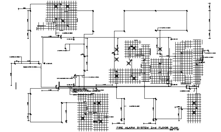 Second floor Fire Alarm system diagrams are given in this