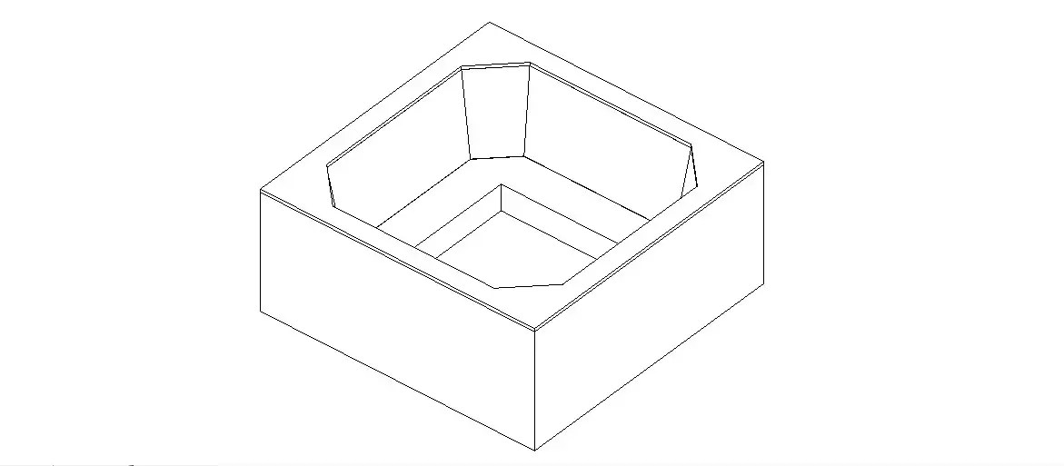 Stine sink top view elevation 3d block cad drawing details