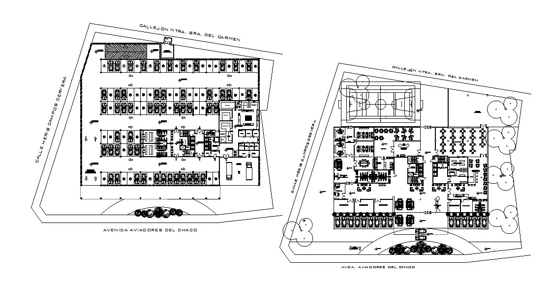This AutoCAD drawing file defined town planning detail