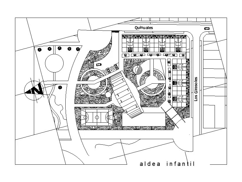 Town planning detail separated in this cad drawing file